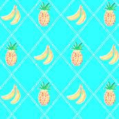 Pinapple Banana Diamonds - Aqua