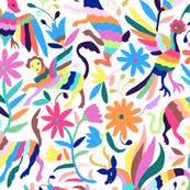 Mexican Otomi Animals - Small Multicolor