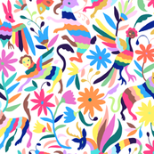 Mexican Otomi Animals - Large Multicolor