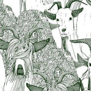 just goats dark green