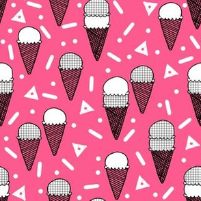 Ice Cream Party - Bright Pink (Small version) by Andrea Lauren