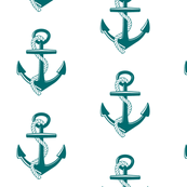Anchors Large -teal