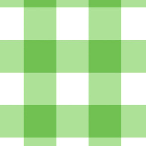 Large Buffalo Check in bright green