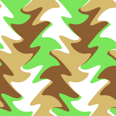 leaf swirl in lime, chocolate, and caramel