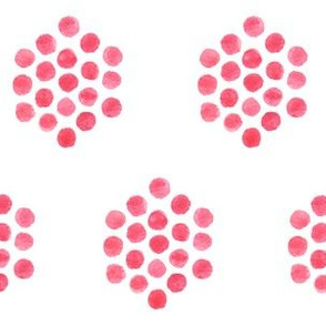 Pink Watercolor Polka Dotted Hexagon