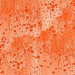 orange ink splatter