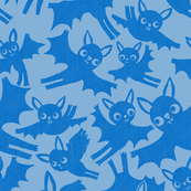 Halloween Bats in Ghostly Blue