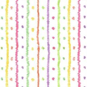 Pre-Scribbled Stripe-and-Dot