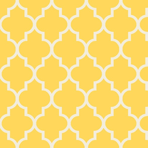 Lemon Cream Quatrefoil