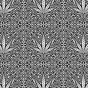 Sweet Leaf Black and White- small