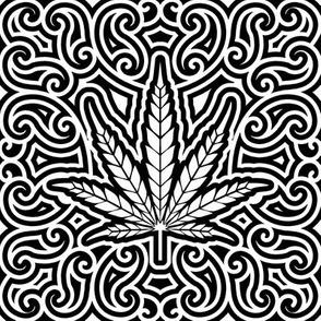 Sweet Leaf Black and White- large