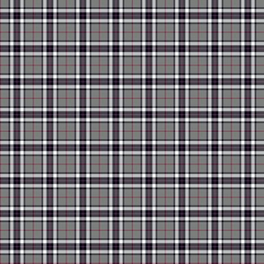 "1"" mini Thomson / Thompson tartan - grey"