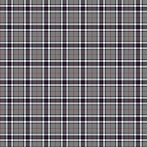 """1"""" mini Thomson / Thompson tartan - grey"""