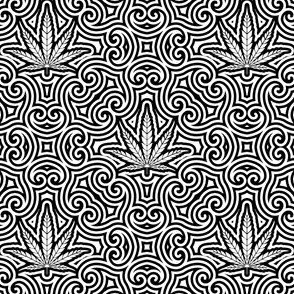 Sweet Leaf Black and White 2- Medium