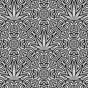 Sweet Leaf Black and White 2- Medium
