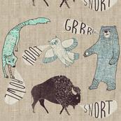 Grr.Howl.Hoot.Snort. (hemp)