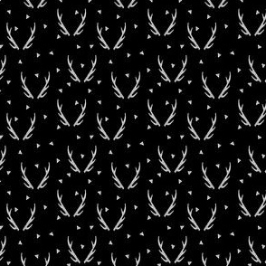 Antlers - Black and White (Tiny Version) by Andrea Lauren