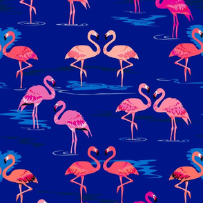 flamingos love navy