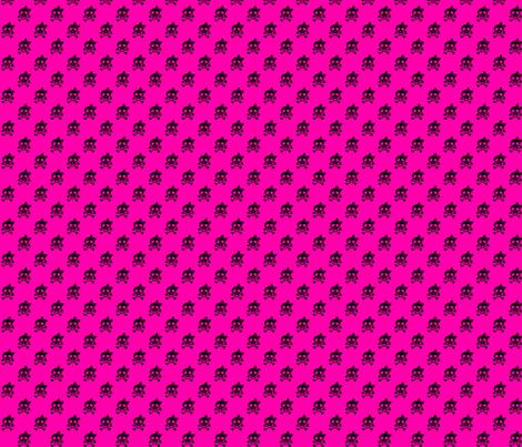 Girls Rock Black Skulls on Pink