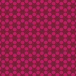 Dark Raspberry Hexies