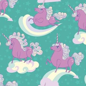 Purple Prancing Ponycorns