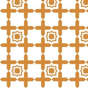 Geometric Tile ORANGE
