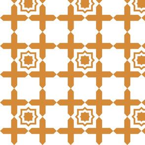 Geometric Tile ORANGE
