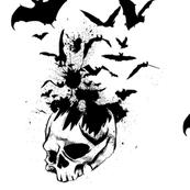 skulls and bats
