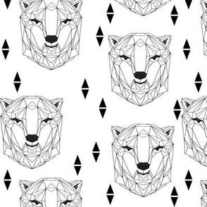 Geo Polar Bear Head - White by Andrea Lauren