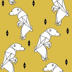 Geo Polar Bear - Mustard by Andrea Lauren