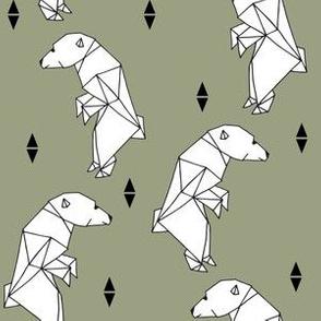 Geo Polar Bear - Artichoke by Andrea Lauren
