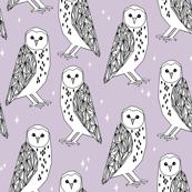 Barn Owl - Lavender by Andrea Lauren