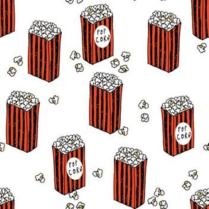 popcorn // movies movie theatre snacks food stripes kids