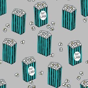 Popcorn - Grey/Turquoise by Andrea Lauren