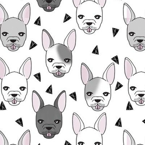french bulldog // bulldog frenchie dog breed fabric bulldogs cute dog