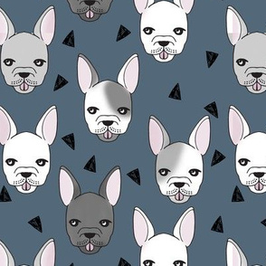 French Bulldog - Payne's Gray by Andrea Lauren