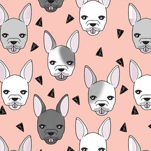 french bulldog // frenchie dog dog breed fabric frenchie fabric cute dog