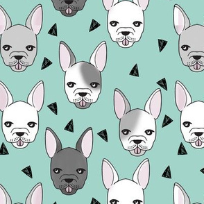 French Bulldog - Pale Turquoise by Andrea Lauren