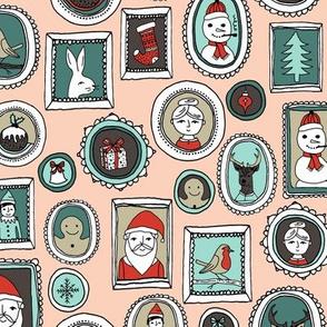 Christmas Frames - Light Pink by Andrea Lauren