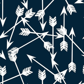 Arrows Scattered - Custom Navy by Andrea Lauren