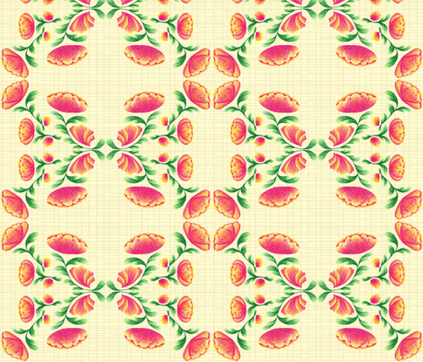 Hatchmark Botanical fabric - katfujihara - Spoonflower