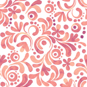 Abstract floral watercolor pattern