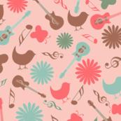 Pink Musical Birds