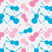 Blue and Pink Violins