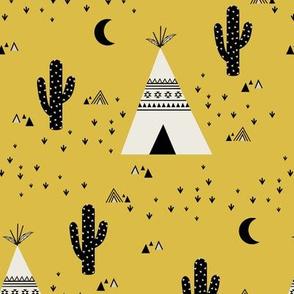 Teepee - Ochre Background