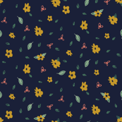 Navy & Gold Floral
