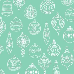 ornaments // mint christmas ornaments holiday hand-drawn illustration christmas ornamanent