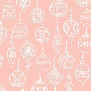 ornaments // pink christmas holiday vintage christmas tree