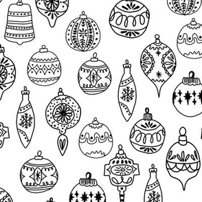 Christmas Ornament - Black and White by Andrea Lauren