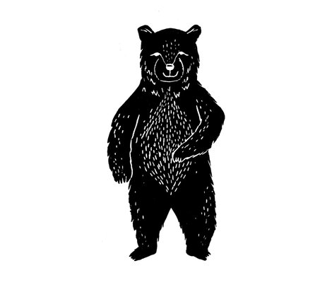 Forest Bear - One per FQ Cut and Sew by Andrea Lauren
